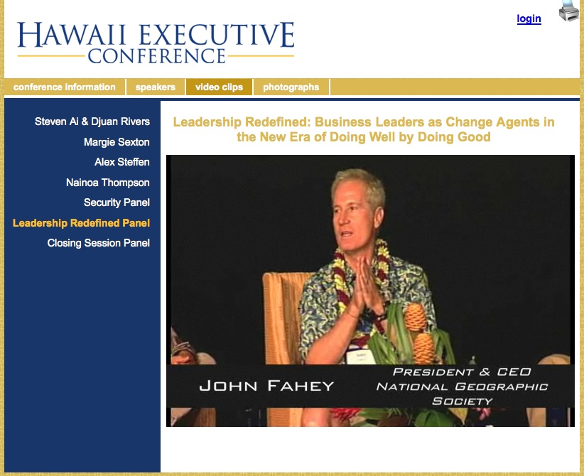 John on a panel at the Hawaii Executive Conference