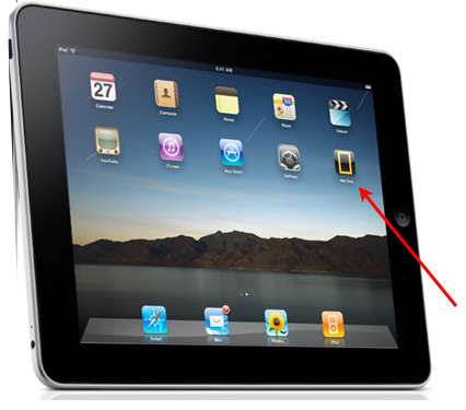 Note the icon on the iPad.