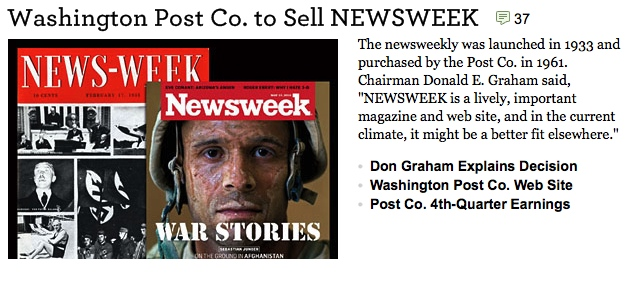 Newsweek for sale