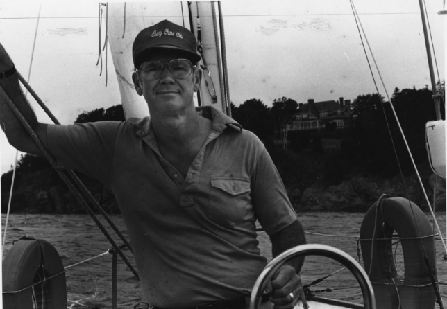 Gil Grosvenor at helm