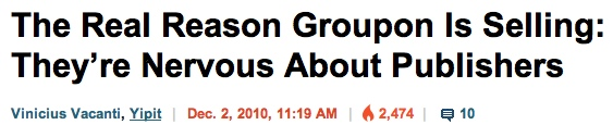 Groupon publishers headline BI