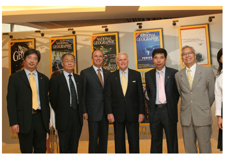 Chris Johns & Terry Adamson stand tall with our new publishing partners in the People$rsquo;s Republic of China (2007).