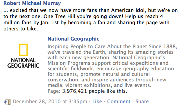 Robert Michael Murray FB fan request
