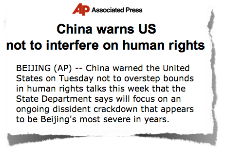 China warns US human rights AP