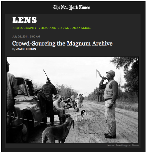 Magnum crowdsource NYTimes Lens logo