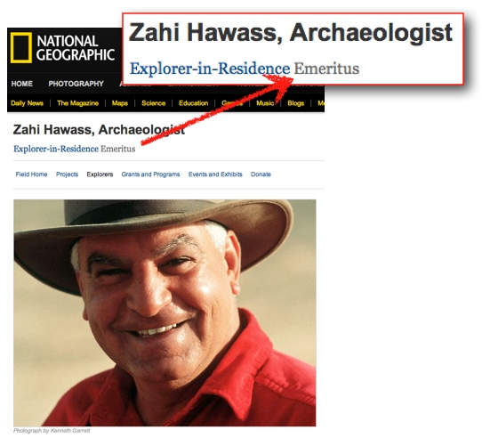 Zahi Hawass Explorer in Residence emeritus