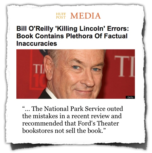 HuffPo Media OReilly Lincoln errors