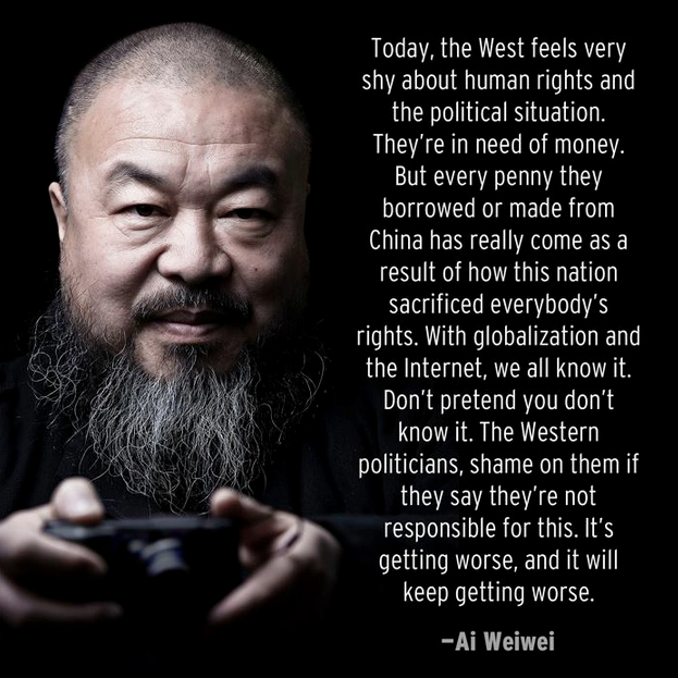 Ai Weiwei quote photo Beware of Images