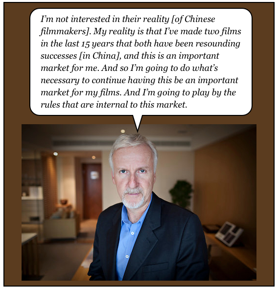 James Cameron on China