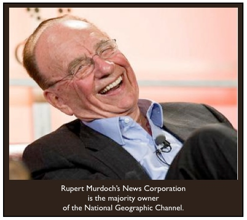 Rupert Murdoch laughs majority owner br background