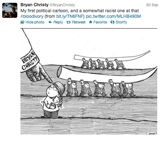 Bryan Christy political cartoon Twitter