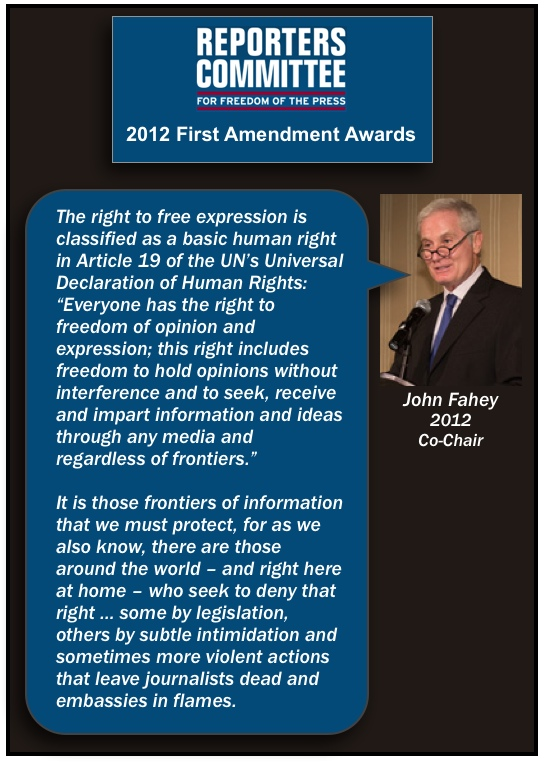John Fahey Reporters Committee First Amendment speech