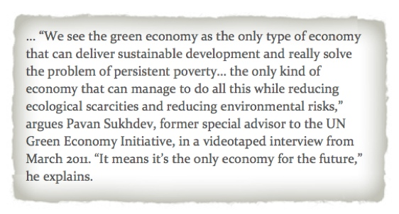 Green economy sustainable quote UN Guernica