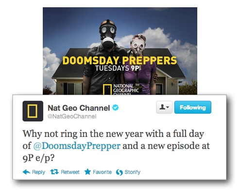Doomesday Preppers Twitter 2013 NYDay