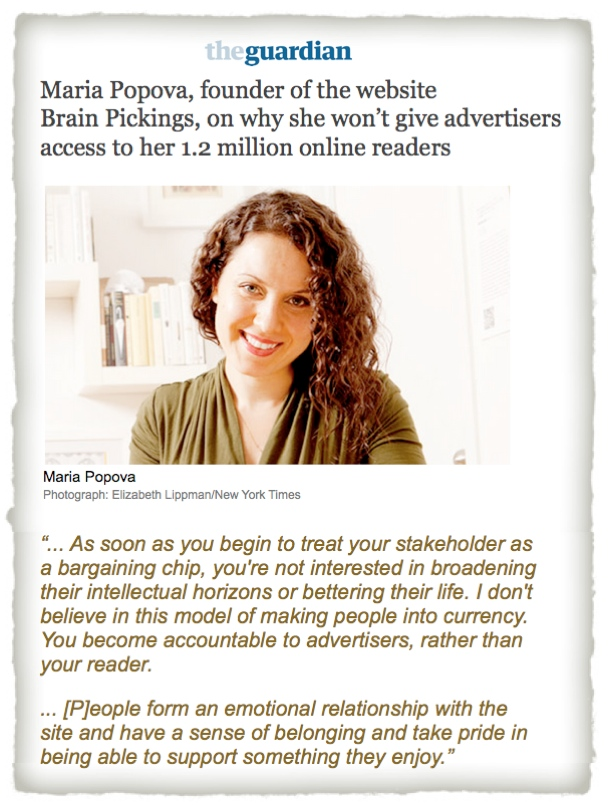 Maria Popova Brain Pickings Guardian advertising trust