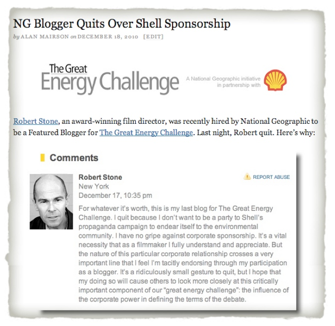 Robert_Stone_blogger_quits_Shell_advertising