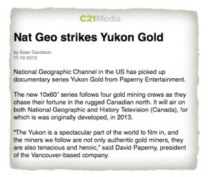 c21media_NatGeoChannel_Yukon_Gold_mining_reality_tv
