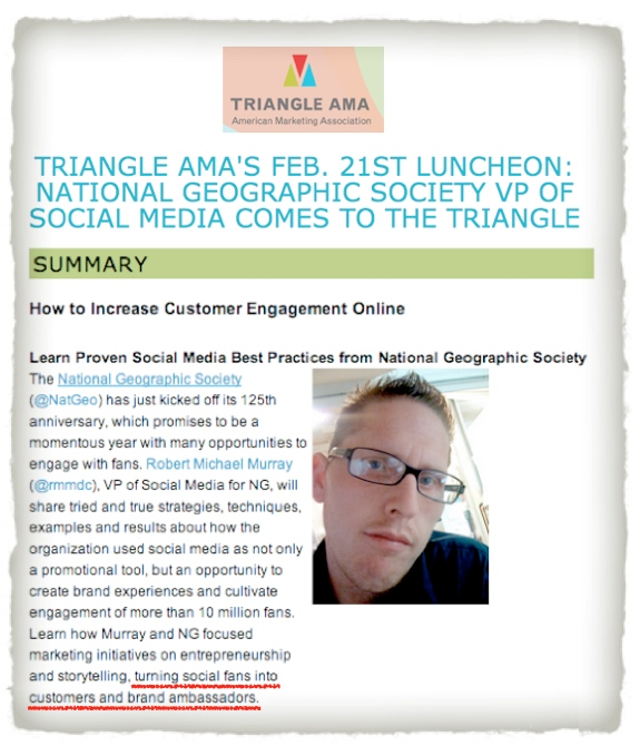 triangle AMA murray social media luncheon