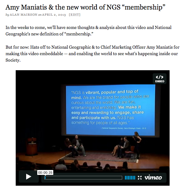 Amy Maniatis post video embed