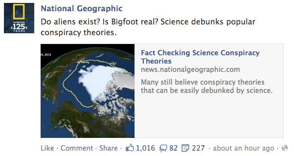 National Geographic Facebook consipiracy theories