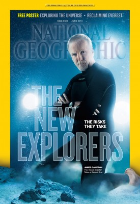 James Cameron on cover of National Geographic magazine