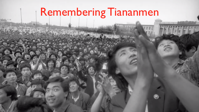 crowd in Tiananmen Square