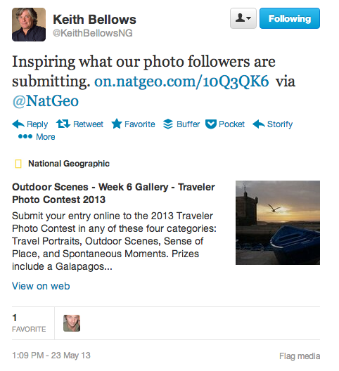 Keith Bellows tweet followers