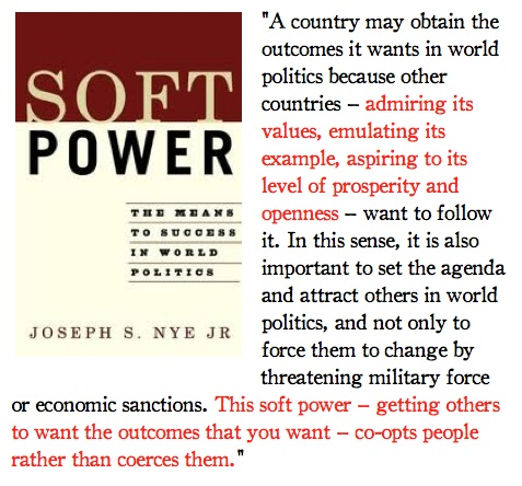 soft and hard power Best answer: hard power would be the economic crippling of chile by nixon and kissinger in 1973 and the subsequent us supported military coup soft power would be.